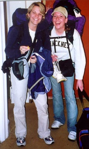 2001: My best friend and I setting off for Italy after a semester in London.