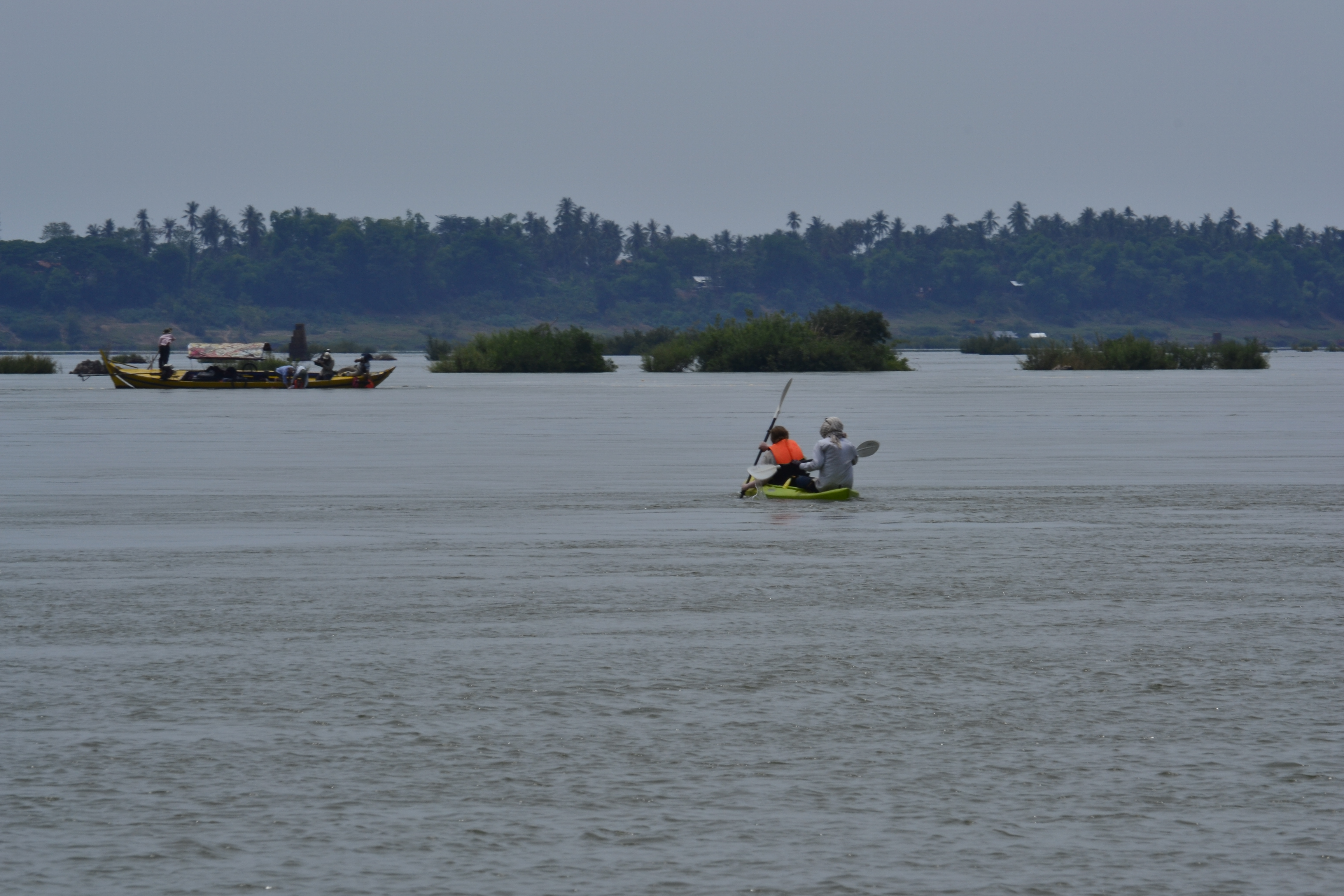 This rescue mission. The sinkers were somewhere in the middle of this stretch of Mekong.