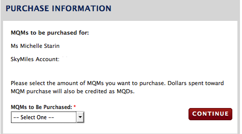 Almost there. Just choose the number of miles you want to purchase from the drop down menu.