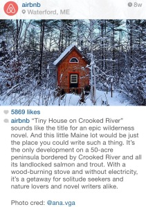 Tiny Instagram for a tiny house.