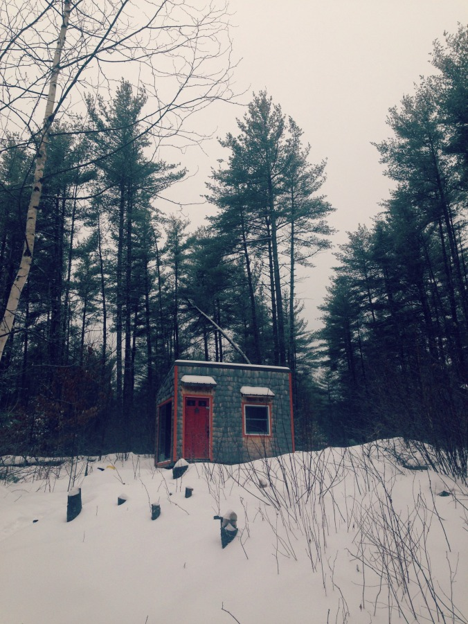This is actually the guest house of the Crooked River Tiny House. This is where the compost toilet is. I didn't use it.